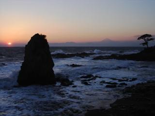 立石公園からの夕焼け
