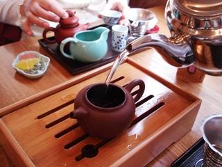 茗香閣で中国喫茶