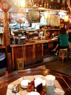 上海厨房の店内の様子