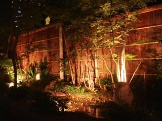 日本料理 植村 の中庭