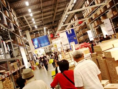 IKEA 横浜港北 イケア セルフサービスエリアへ