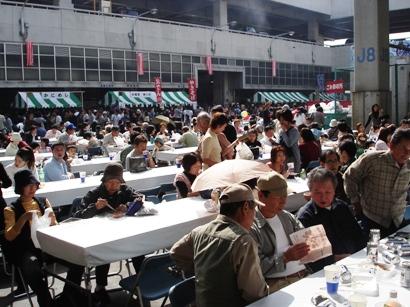 横浜市場まつり 会場の様子