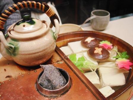 横浜関内 うなぎの老舗 わかな の湯豆腐