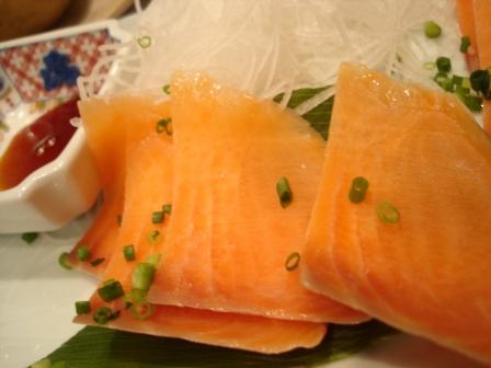 ニセコひらふ・居酒屋「楽」 鮭のルイベ