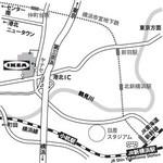 IKEA 横浜港北地図