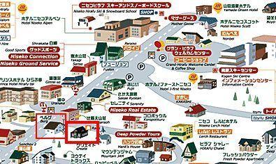 ニセコひらふ・居酒屋「楽」 地図